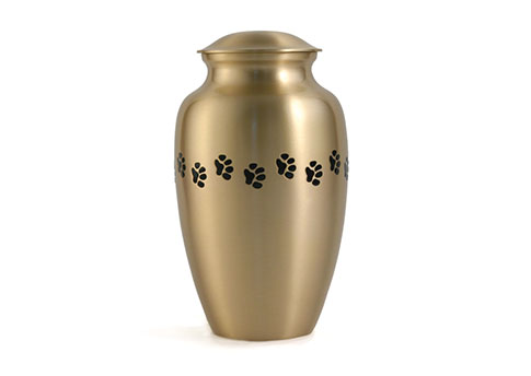 Classic Pet with Paw Print Urn Image